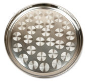Round steel tray Royalty Free Stock Photo