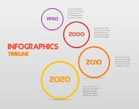 Round steps timeline circle infographics - can illustrate a strategy, workflow or team work, vector flat color.  royalty free illustration