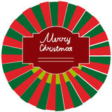 Round sticker on the Christmas gift Royalty Free Stock Photography