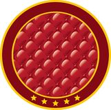 Round sticker with upholstery fabric. Round sticker with an imitation of upholstery fabric Stock Illustration