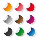Round sticker vector set Royalty Free Stock Image