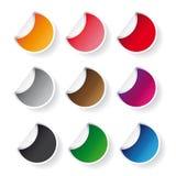 Round sticker vector set Royalty Free Stock Image