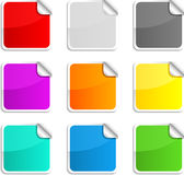 Round stickers. Royalty Free Stock Photos