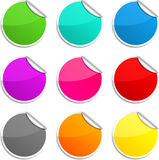 Round stickers. Stock Image
