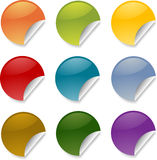 Round stickers Stock Images