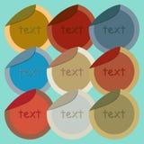 Round stickers Stock Photo