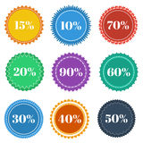 Round stickers Royalty Free Stock Photo