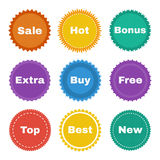 Round stickers Stock Photography