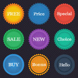 Round stickers Royalty Free Stock Photos