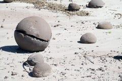 Round stone balls Stock Images
