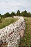 Round stone fence Stock Photo