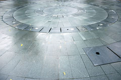 Round stone flooring Royalty Free Stock Photos
