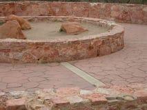 Round stone path Stock Photos