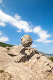 Round stone on top of the mountain, Corsica Royalty Free Stock Photography
