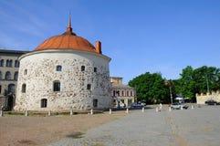 Round Stone Tower in European Town Royalty Free Stock Photos