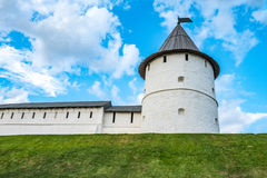 The round stone tower. In Kazan Royalty Free Stock Images