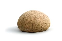 Round stone on white background Royalty Free Stock Images