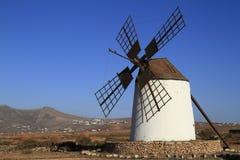 Round stone windmill on Fuerteventura Stock Photo