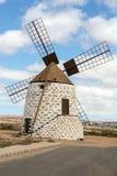 Round stone windmill in Lajares. Fuerteventura, Royalty Free Stock Image