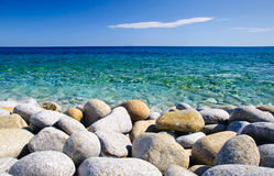 Free Round Stones And Clear Sea Stock Photos - 20506523