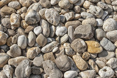 Round stones. Different types of round stones on direct Royalty Free Stock Photography