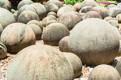 Round stones garden Royalty Free Stock Images