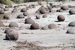 Round stones landscape Royalty Free Stock Photos