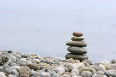Round stones for meditation Royalty Free Stock Photography