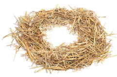Round straw frame Royalty Free Stock Photography