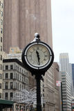 Round street clock Royalty Free Stock Photo