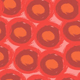 Round stroke seamless pattern. Textile grunge Stock Photos