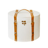 Round suitcase Royalty Free Stock Images