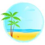 Round summer banner Stock Image