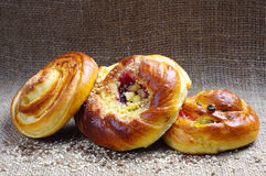 Round sweet buns Royalty Free Stock Photography