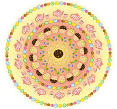 Round sweet pattern Royalty Free Stock Photography