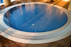 Round swimming pool Stock Photos