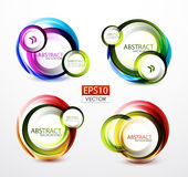 Round swirl banners Stock Image