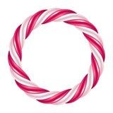 Round swirl candy cane background border. Hard candy frame. Stock Photography