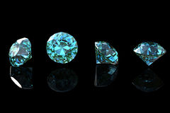 Round swiss blue topaz Royalty Free Stock Image