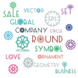 Round symbols with slogans Royalty Free Stock Photography