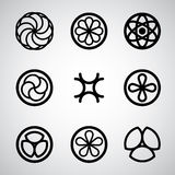 Round symbols vector set. Royalty Free Stock Photography