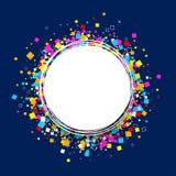 Round tło z colour kwadratami royalty ilustracja