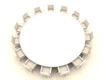 Round Table 1. Round Table 3D rendered illustration vector illustration