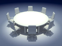 Round Table. 3d render of Round Table Stock Image