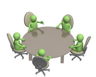 Round table. Assembly of equal in rights partners Royalty Free Stock Photos