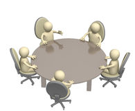 Round table. Assembly of equal in rights partners Stock Image