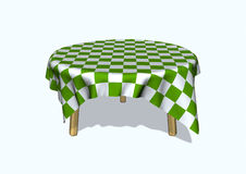 Round table. 3d image of a round table vector illustration