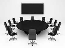 Round Table Royalty Free Stock Photo