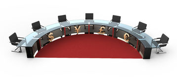 Round table Royalty Free Stock Photography