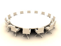 Round Table 2. Round Table 3D rendered illustration stock illustration